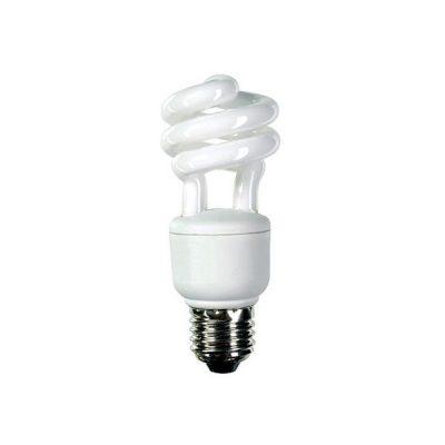 Spiral štedna žarulja T3 827 8000h 11W E27 proizvođača GE! Boja svjetla – toplo žuta 2700K, jačina svjetla 580 lumena.